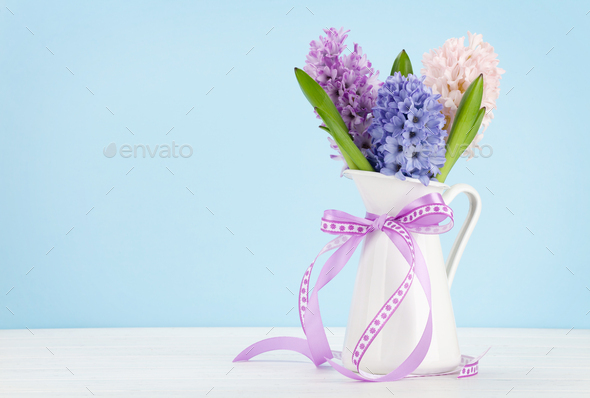 Hyacinth flowers bouquet - Stock Photo - Images