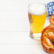Lager beer mug and fresh baked homemade pretzel - PhotoDune Item for Sale