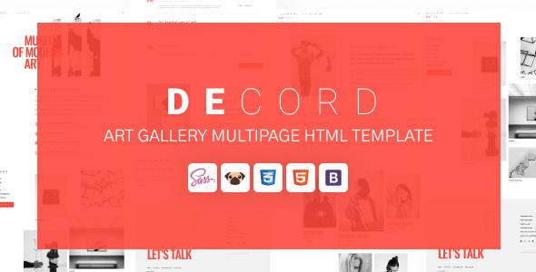 Decord – HTML Art Gallery Template