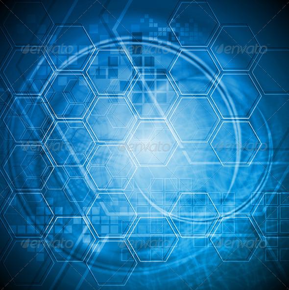 Hi-tech blue background - Backgrounds Decorative