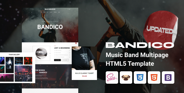 Bandico - HTML5 Music and Band Template