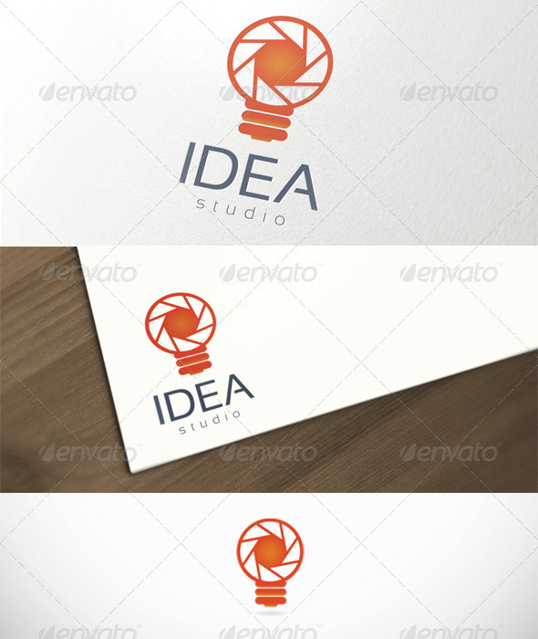 Idea Studio Photography Logo Template - Symbols Logo Templates