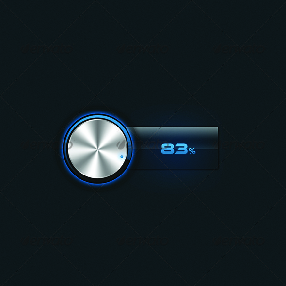 Glossy Volume Controller  - Tech / Futuristic Backgrounds