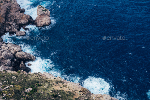 Palma de Mallorca rocky coast - Stock Photo - Images