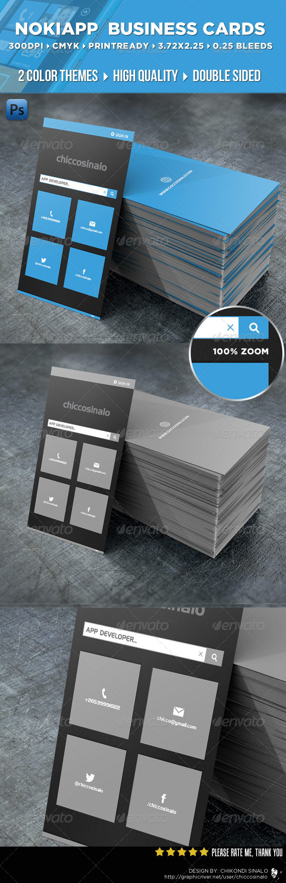 NokiApp Business Card - Creative Business Cards