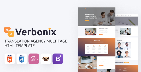 Verbonix - Translation Agency and Language Course Template