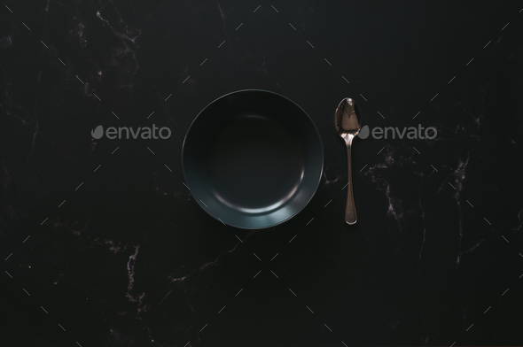Mockup of an empty luxurious bowl - Stock Photo - Images