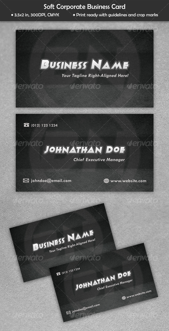 Soft Corporate Business Card - Corporate Business Cards