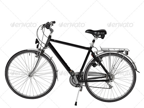road bike isolated with clipping path - Stock Photo - Images