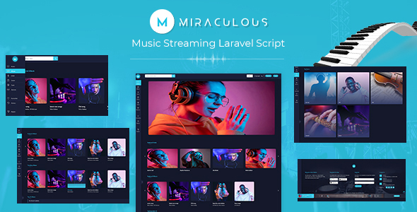 miraculous - Music Streaming Laravel Script