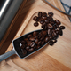 The roasted coffee bean in the metal spoon - PhotoDune Item for Sale