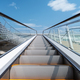 outdoor escalator with blue sky - PhotoDune Item for Sale