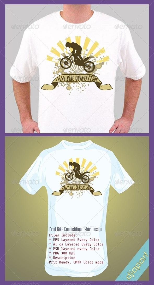 trial bike T-shirt design - Sports & Teams T-Shirts