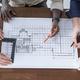 Engineers drawing blueprint - PhotoDune Item for Sale