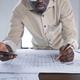 Architect developing new blueprint - PhotoDune Item for Sale