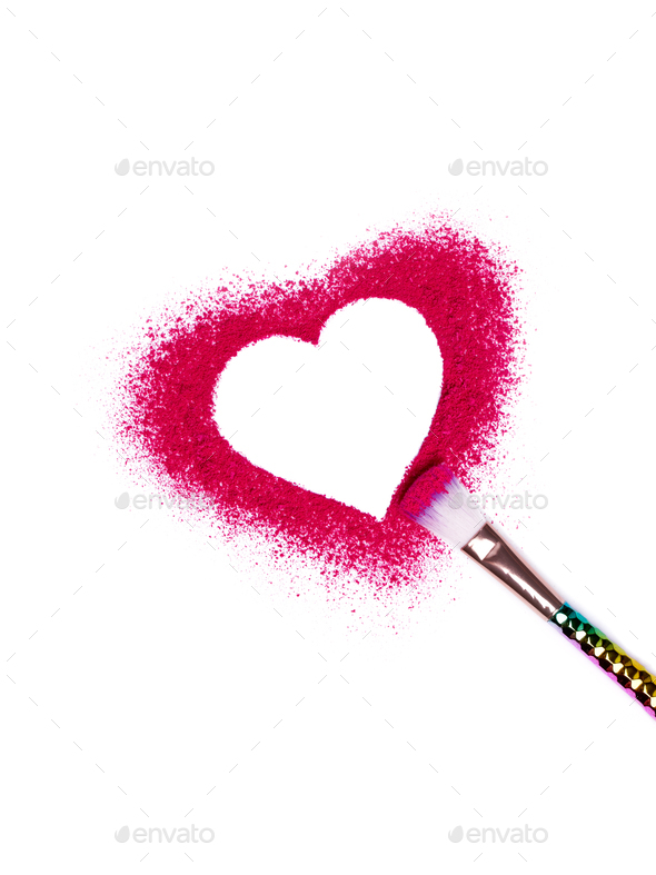 Valentine's Day background makeup - Stock Photo - Images