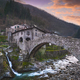 Fabbriche di Vallico village and old bridge over the creek. Apuane park. Garfagnana, Tuscany, Italy. - PhotoDune Item for Sale