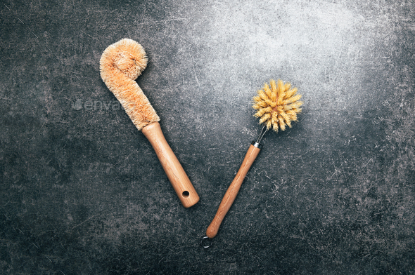 Eco friendly plant based cleaning brushes - Stock Photo - Images