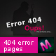 404 Error Pages Package So!Black Serie - GraphicRiver Item for Sale