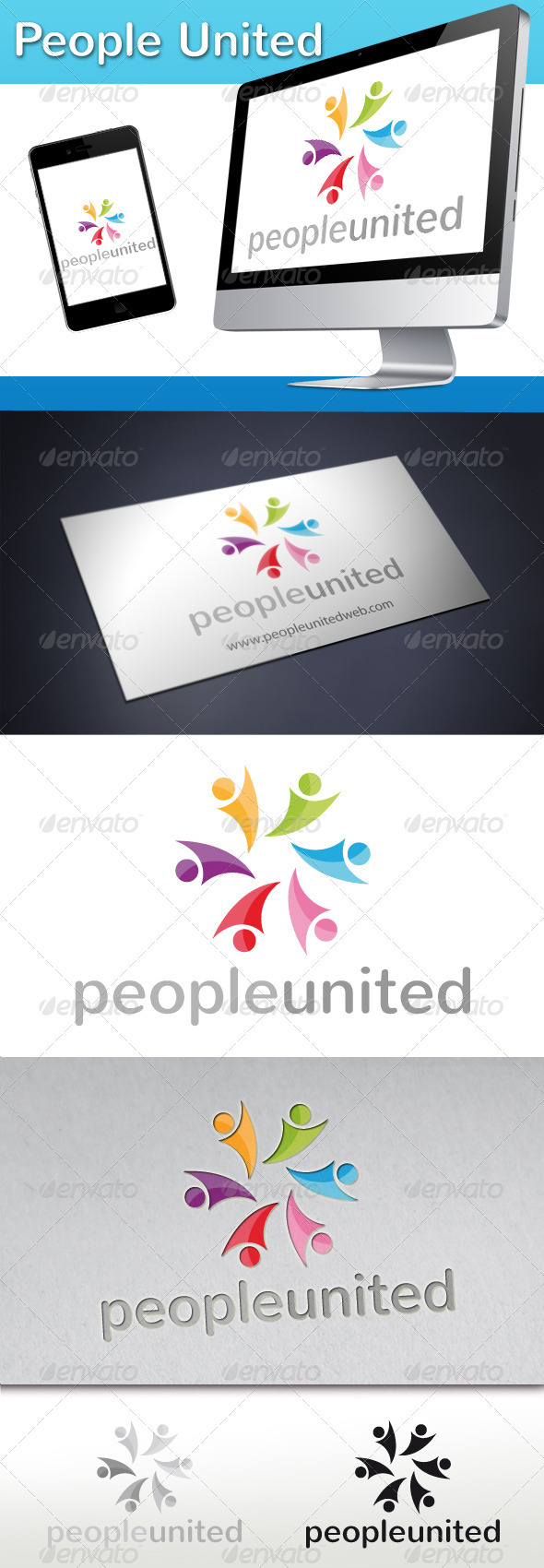 People United Logo - Humans Logo Templates