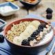 Greek yogurt almond banana Chia seeds Quinoa blackberry breakfast bowl - PhotoDune Item for Sale