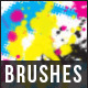 14 Halftone Splatter Brushes - GraphicRiver Item for Sale
