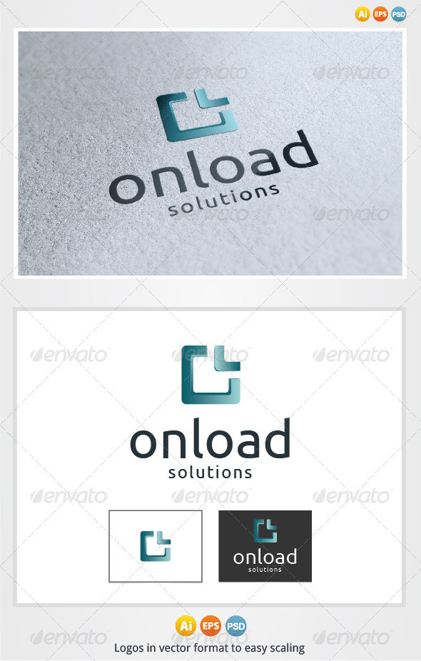 On Load Logo - Letters Logo Templates