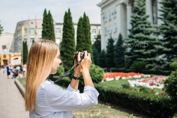 Summer travel, summer social distant vacation, weekend getaways, solo local travel. Young woman with - Stock Photo - Images