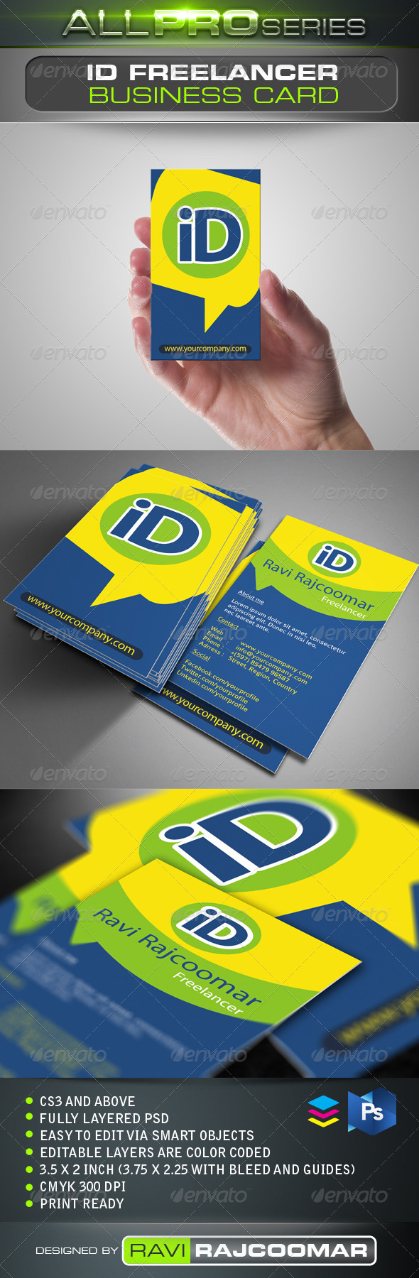 ID Freelancer Business Card - Creative Business Cards