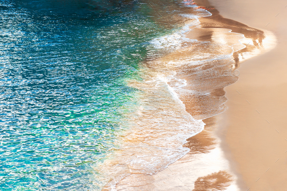 Beach with azure waters on Palma - Stock Photo - Images