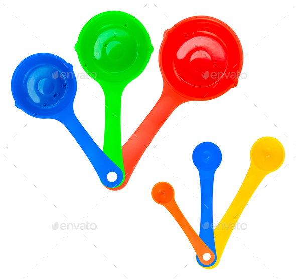 Set Of Isolated Measuring Spoons - Stock Photo - Images