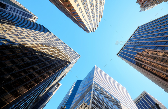 Towers of Manhattan - Stock Photo - Images