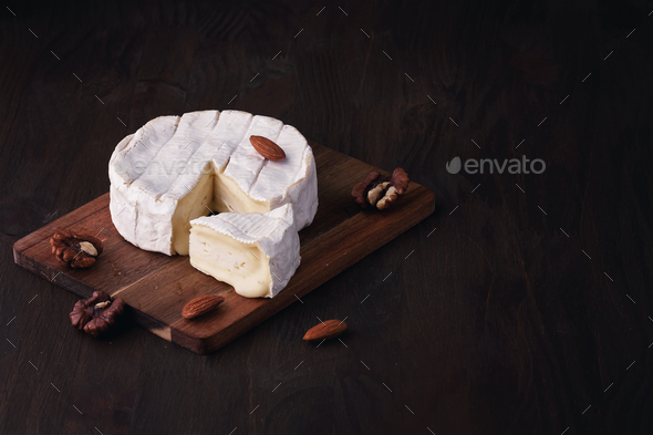 French cheese camembert - Stock Photo - Images