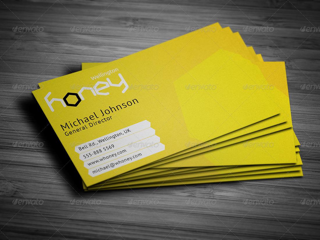 Hny - Honey Company Business Card by mediabq | GraphicRiver