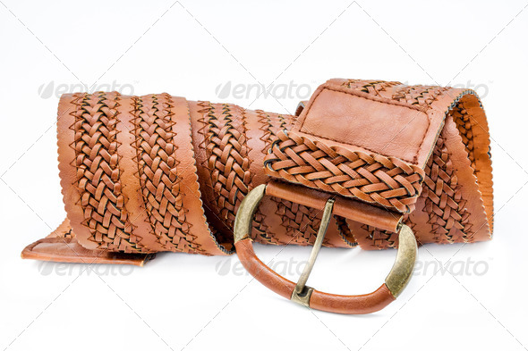 Leather women belts - Stock Photo - Images