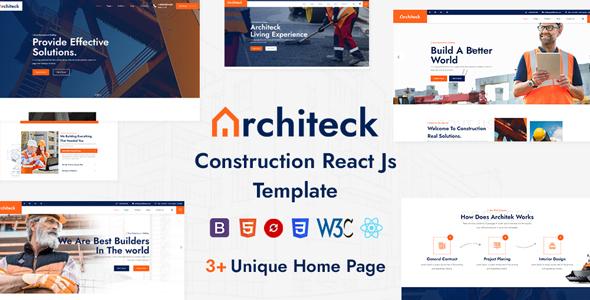 Architeck – Construction React Js Template