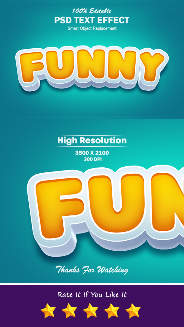 Funny 3D Pop up Photoshop Text Effect
