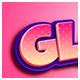 Glamor 3D Editable Photoshop Text Effect