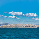 Blue sea and sky, Piraeus town background, Greece. - PhotoDune Item for Sale