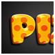 Pizza 3D Editable Text Effect