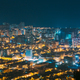 Batumi, Adjara, Georgia. Aerial View Of Urban Cityscape Skyline At Night - PhotoDune Item for Sale
