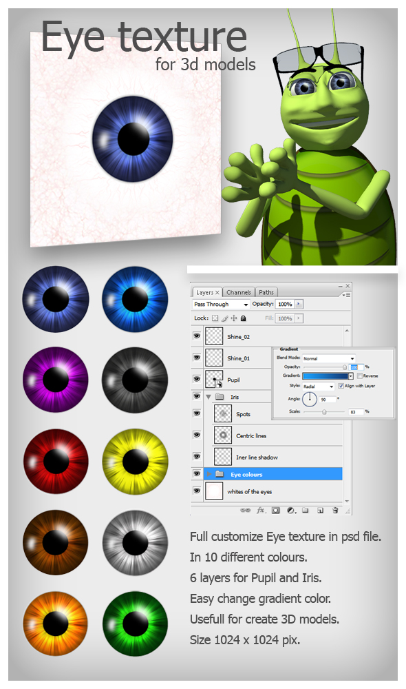 Eye texture - 3DOcean Item for Sale