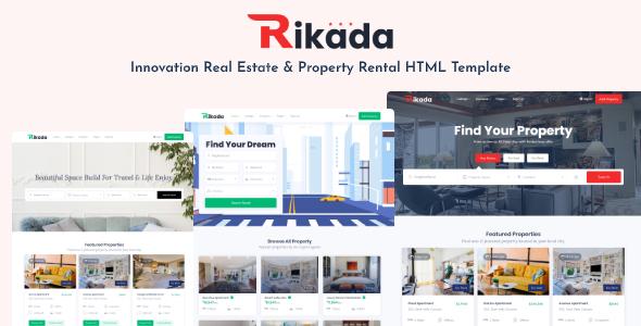 Rikada - Real Estate HTML Template