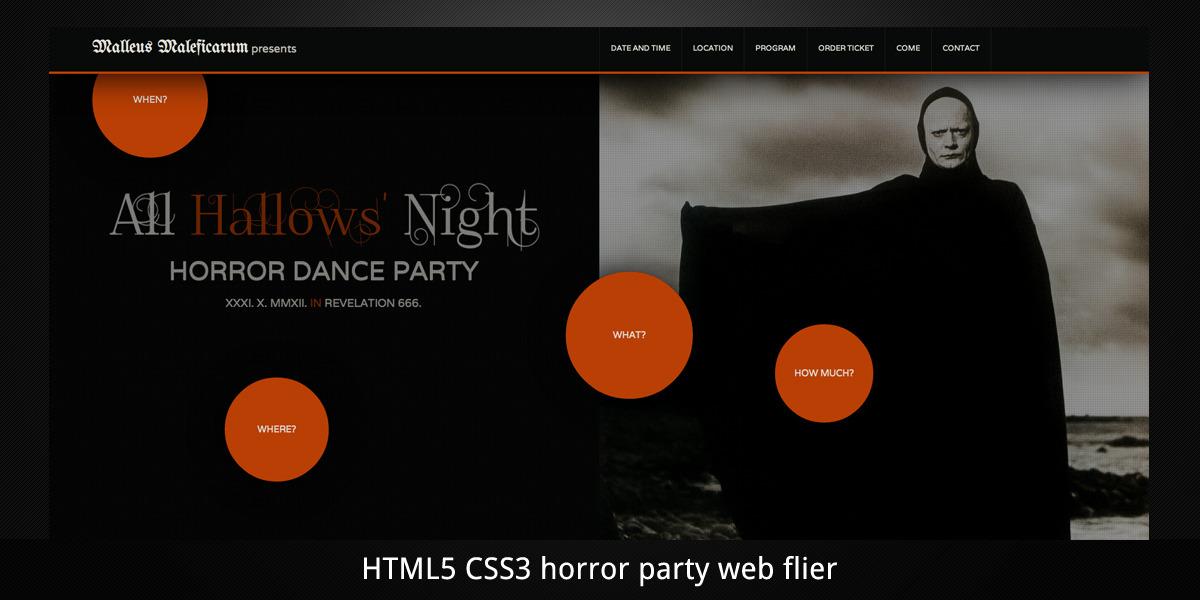 Malleus Maleficarum–Horror Party/Event Web Flyer