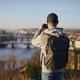 Man photographing urban skyline of Prague - PhotoDune Item for Sale