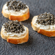 Canape with black caviar - PhotoDune Item for Sale