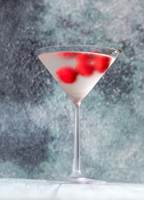 Glass of Dry Martini Cocktail - Stock Photo - Images