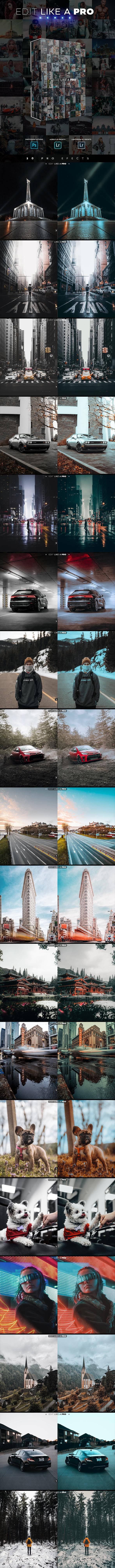 Edit Like A Pro Serie - Photoshop & Lightroom Effects