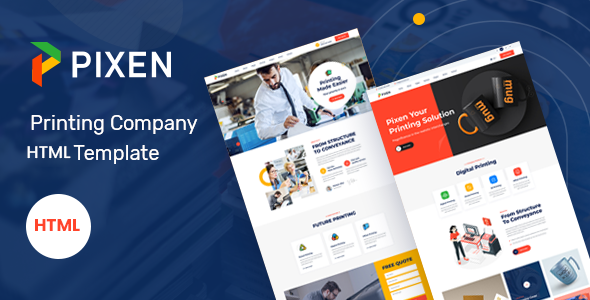 Pixen - Printing Services Company HTML5 Template