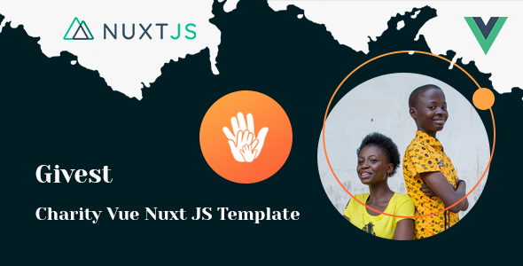 Givest - Charity & Fundraising Vue Nuxt JS Template
